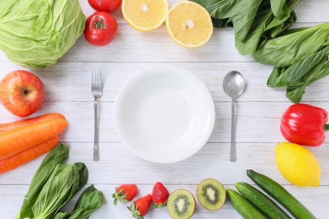 野菜とお皿